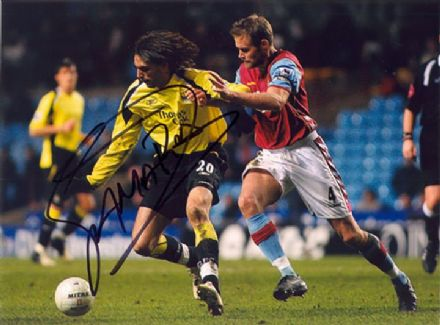 Georgios Samaras, Manchester City, signed 8x6 inch photo.